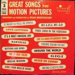 Hugo Montenegro - Great Songs From Motion Pictures (Vol. 3, 1945-1960) flac